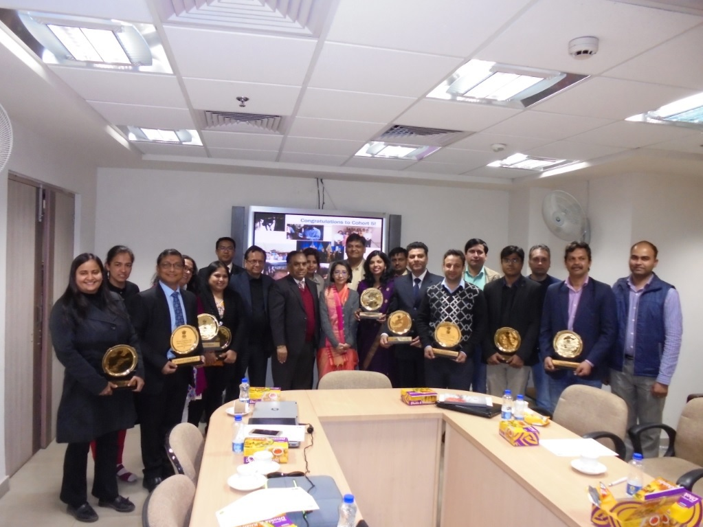 The felicitation ceremony of EIS officers cohort-5 at NCDC,Delhi