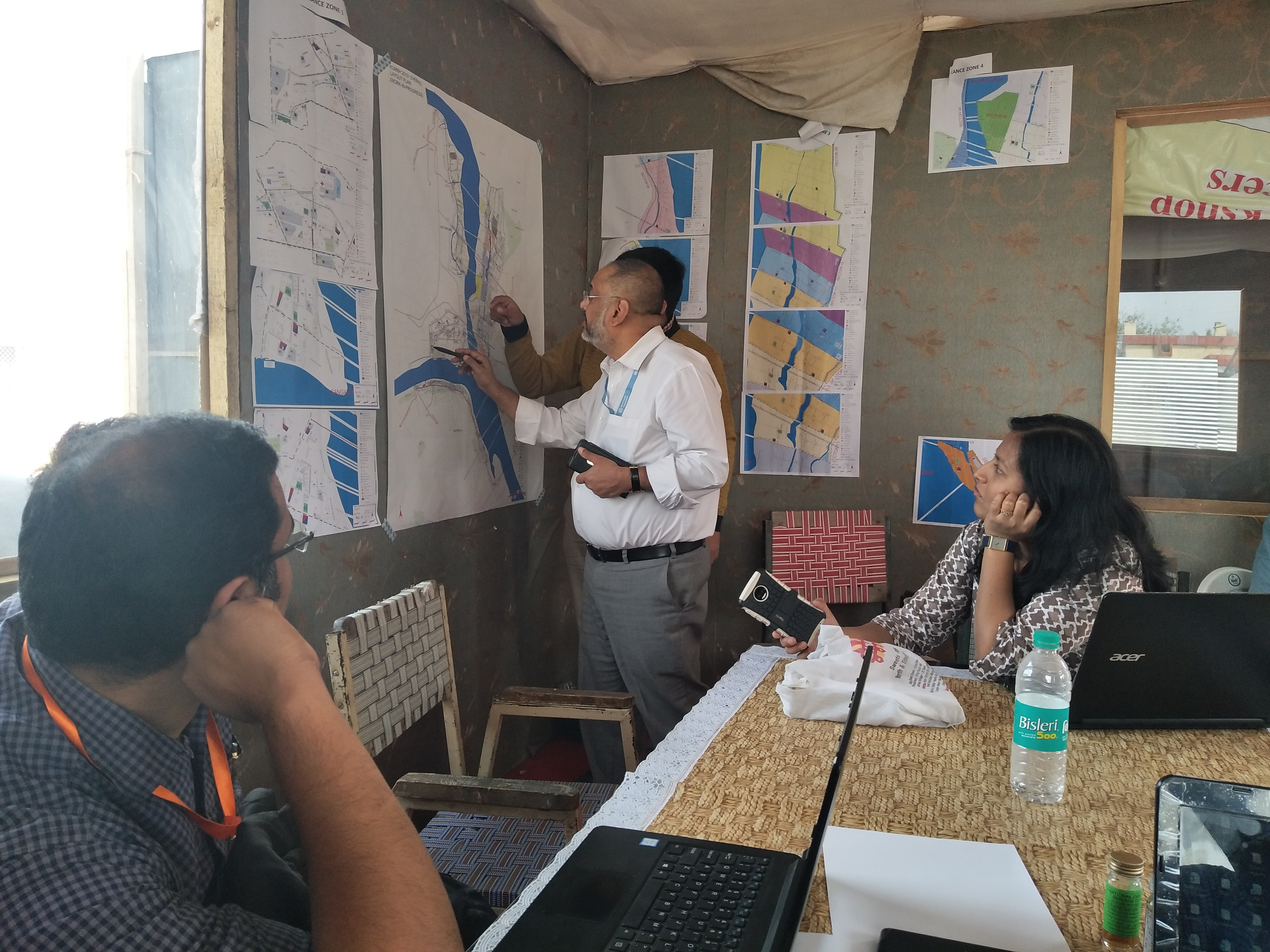 EIS officers review surveillance data during Kumbh 2019 Prayagraj