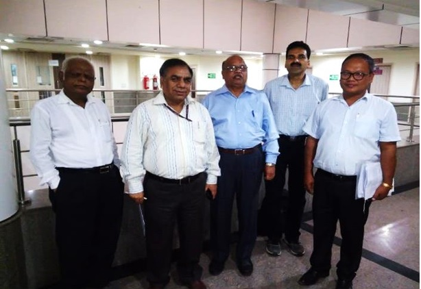 From Left to Right, Dr. Jai Karan (HoD, New Branches of NCDC), Dr. S.K. Singh, Director, NCDC,  Dr. A.C. Dhariwal, Advisor(PH) & Ex. Director, NCDC, Dr. G.K. Makhija(AD, NCDC), Mr. H. S.K. Sharma, State Microbiologist, Manipur.
